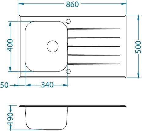 ALVEUS GLASSIX 10 zlewozmywak szklany biały odwracalny