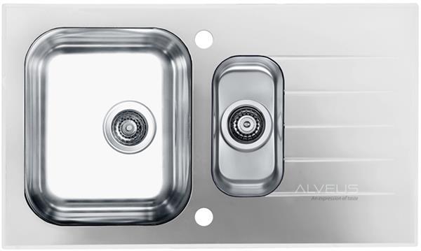 ALVEUS GLASSIX 20 zlewozmywak szklany biały odwracalny