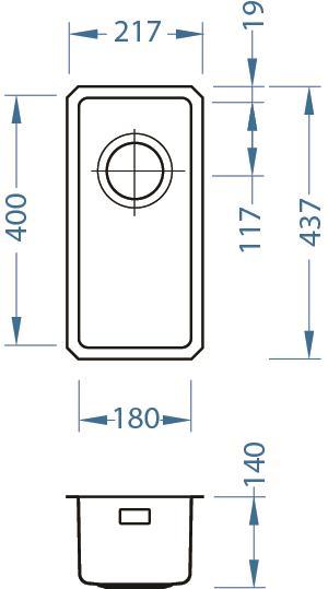 ALVEUS KOMBINO 10 zlewozmywak stalowy antracyt podwieszany